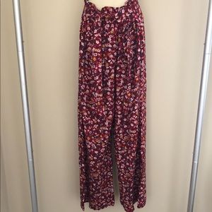 Abercrombie Fitch High Waisted Floral Wide Pants